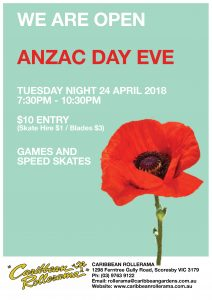 ANZAC DAY EVE